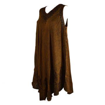 Robe Évasée Senuri Encolure Macramé
