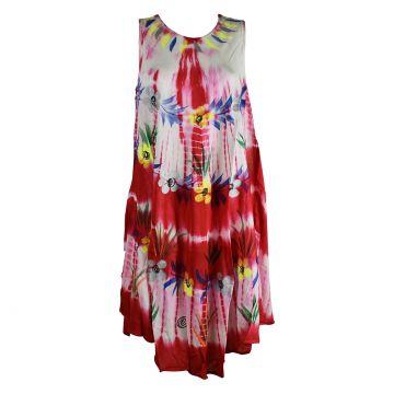 Robe Été Gahiri Batik Batik Fleurs Peintes