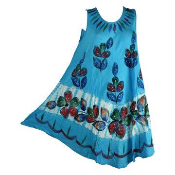 Robe Grande Taille Nadda Batik Turquoise