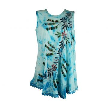 Tunique Ballia Batik Peint Floral