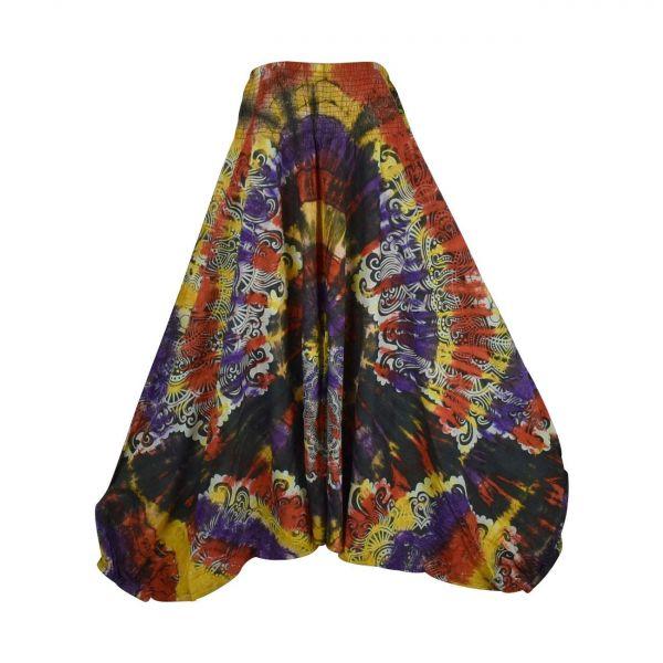 Sarouel Batik Trois en Un Chuwar Coton Multitons
