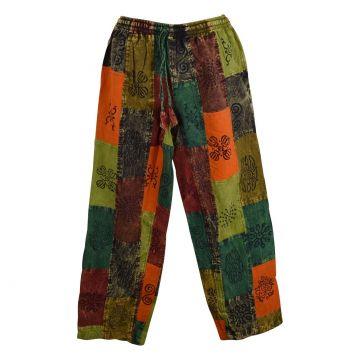 Pantalon patchwork Kudra Homme