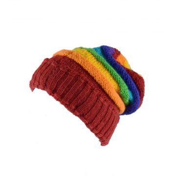 Bonnet Long Nalma Laine et Polaire Multicolore