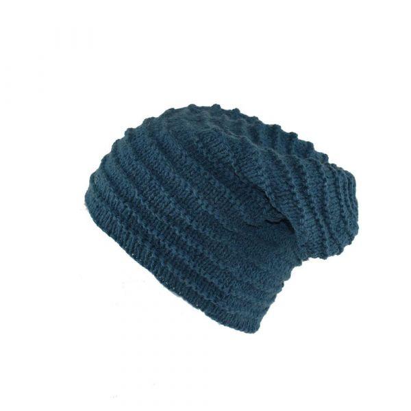 Bonnet Long Kola doublé Polaire Bleu Pétrole