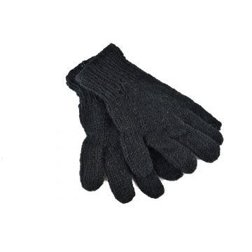 Gants Kolki Unisexe Laine Unie doublé polaire Noir
