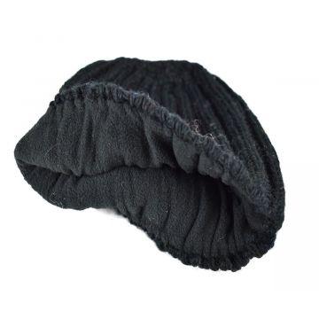Bonnet Court Dohali Laine et Polaire Noir