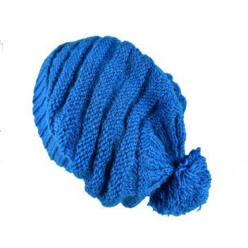 Bonnet Long Balma Femme Pompon Turquoise