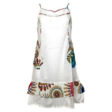 Robe D'été Morena Coton Imprimé Blanc
