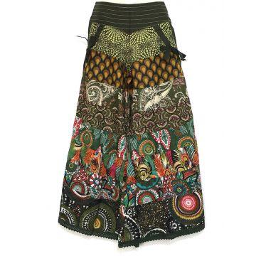 Pantalon Chakina Kaki Patchwork Coton Imprimé