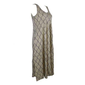 Robe Longue Vanua Coton Imprimé Osian Noir