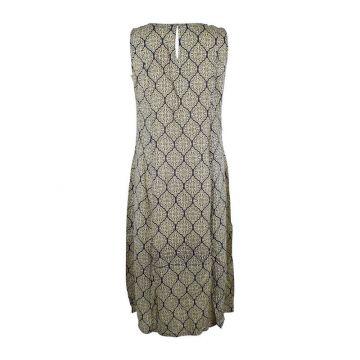 Robe Longue Vanua Viscose Imprimé Osian Marine