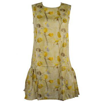 Robe Courte Wani Imprimé Floral Ton Jaune