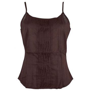Top Mudra Fine Bretelles Coton Choco