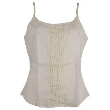Top Mudra Fine Bretelles Coton Écru