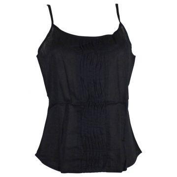Top Mudra Fine Bretelles Coton Noir
