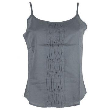 Top Mudra Fine Bretelles Coton Gris
