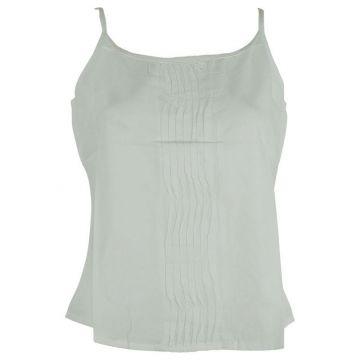 Top Mudra Fine Bretelles Coton Blanc
