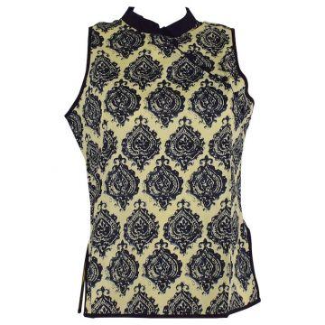 Manora Haut Femme Coton Imprimé Noir