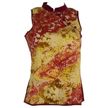 Manora Haut Femme Coton Imprimé Rouge