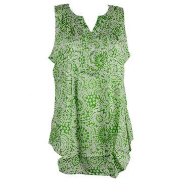 Blouse Kenda Femme Rayonne Imprimé Jalebi Vert