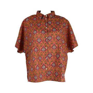 Chemisier Sankara Coton Orange Imprimé Floral