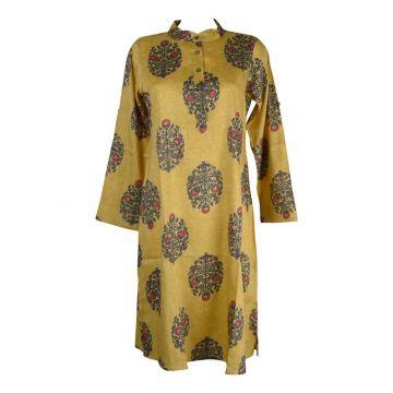 Robe Chemise Maluha Col Rond Imprimé Ethnique