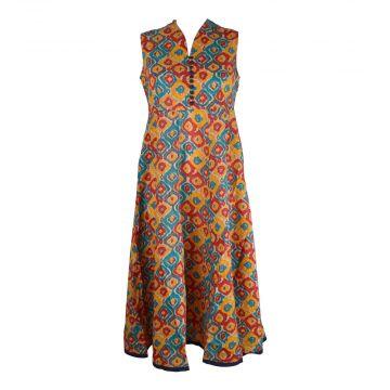 Robe Longue Madalia Coton Imprimé Graphique