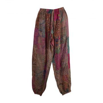 Pantalon Tanda Patchworck Délavé Coton Parme