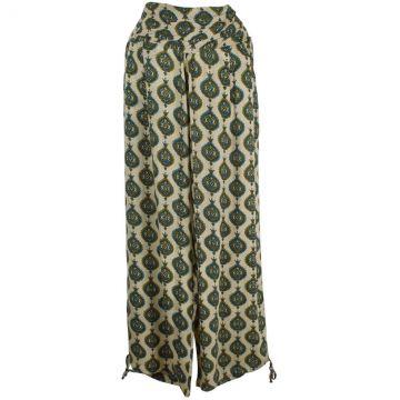Pantalon Été Naricha Viscose Imprimé Adari Vert