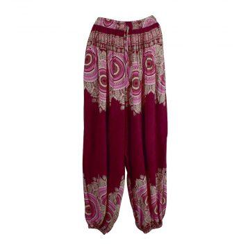 Pantalon Femme Patti Coupe Aladin Bordeaux