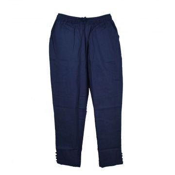 Pantalon Été Joda Coton Khadi Bleu Marine
