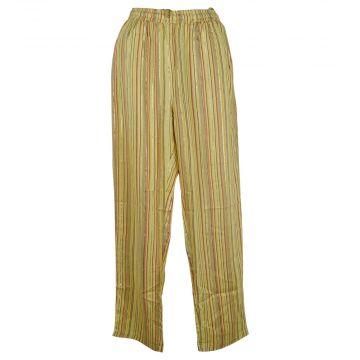 Pantalon Joda Fluide Imprimé Rayé Jaune