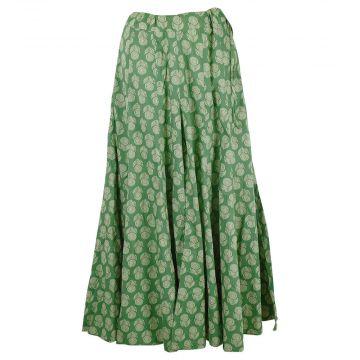 Jupe-Culotte Champa Ethnique Ton Vert