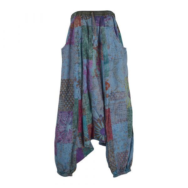 Sarouel Homme Nigohi patchworck Délavé Bleu