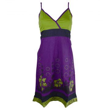Robe à Bretelles Botha Coton Popeline Violet