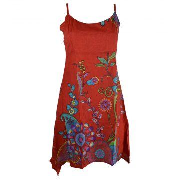 Robe d'Été Joba Imprimé Floral Rouge