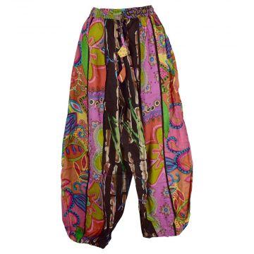 Pantalon Aladin Coton Été Multicolore HI-1590 Parme