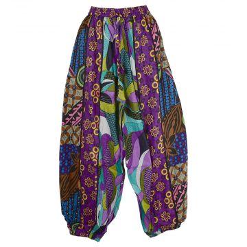 Pantalon Aladin Coton Été Multicolore HI-1590 Violet