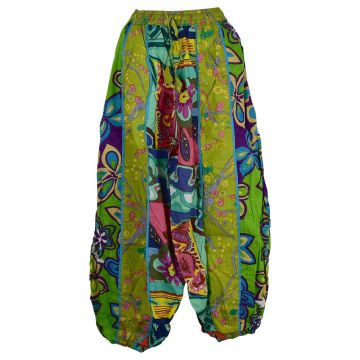 Pantalon Aladin Coton Été Multicolore HI-1590 Anis