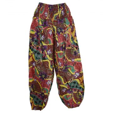 Pantalon Smocks Été Coton Fin Imprimé SPI-03