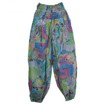 Pantalon Smocks Été Coton Fin Imprimé SPI-08