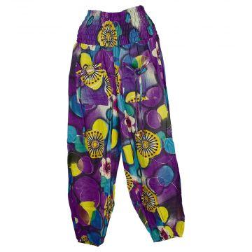 Pantalon Smocks Été Coton Fin Imprimé SPI-10