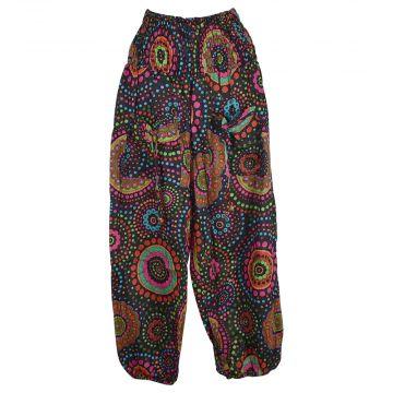 Pantalon Smocks Été Coton Fin Imprimé SPI-13