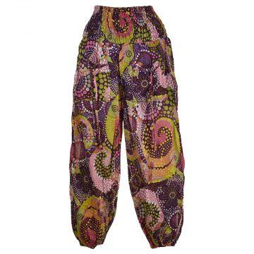 Pantalon Smocks Été Coton Fin Imprimé SPI-15