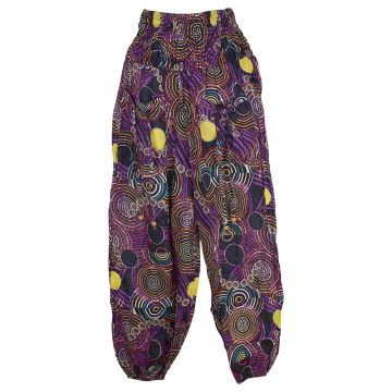 Pantalon Smocks Été Coton Fin Imprimé SPI-17