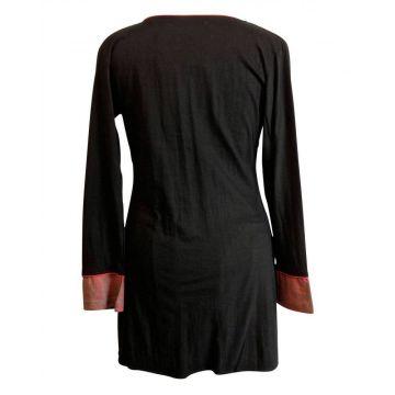 Tunique Sakasi Jersey de Coton Manches Longues
