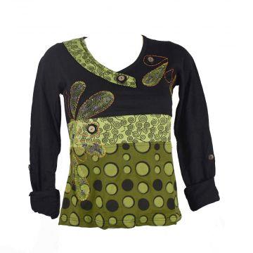 T-Shirt Lauria Imprimé Graphique Ton Vert Anis