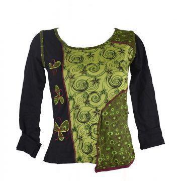 T-Shirt Santha Jersey Imprimé Floral Vert Anis