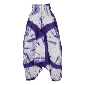 Sarouel Coton Fin Batik Ton Violet
