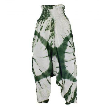 Sarouel Coton Fin Batik Ton Vert